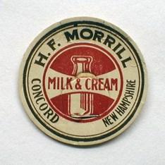 Morrill/'s Dairy Concord, New Hampshire Milk Bottle Cap